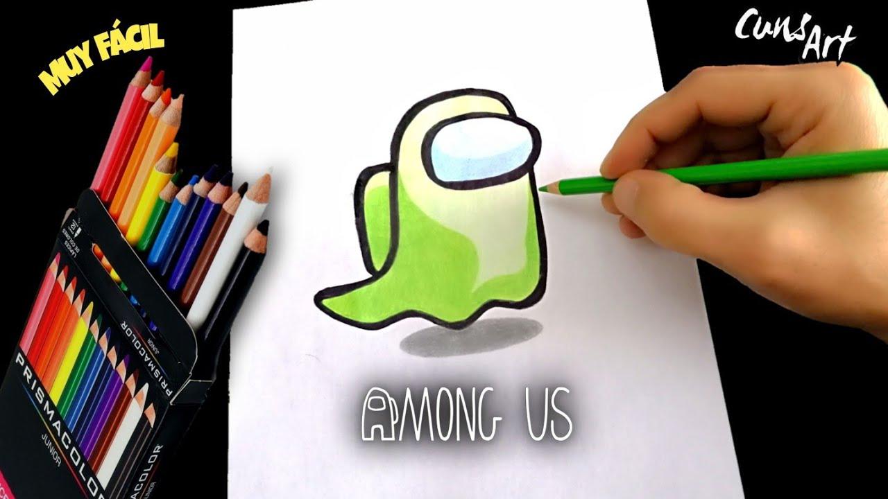Download COMO DIBUJAR Y COLOREAR EL FANTASMA DE AMONG US PASO A PASO | how to draw ghost among us