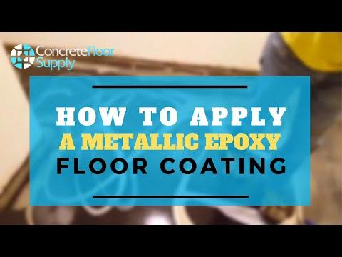 How to Apply a Metallic Epoxy Floor Coating