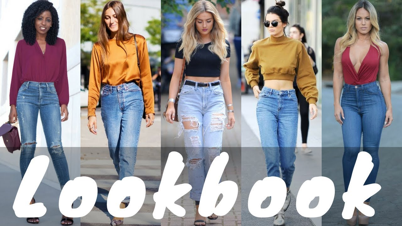 Latest High Waisted Jeans Outfit Ideas for Spring 2018 Lookbook 7