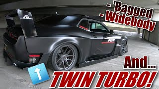 "BAGGED TWIN TURBO DODGE CHALLENGER SRT - ""UNIQUE BUILDS"" SERIES #SEMABUILD #BAGLIFE #WIDEBODY"