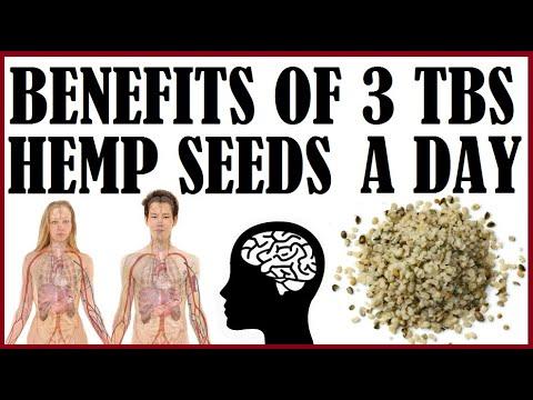 BENEFITS OF 3 TBSP HEMP SEEDS A DAY!