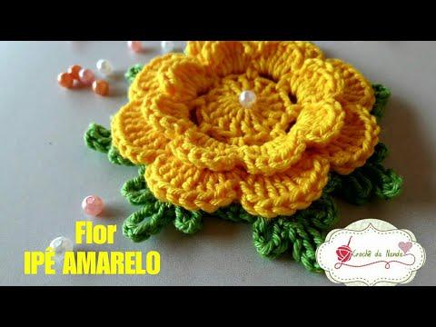 Flor de crochê  IPÊ AMARELO