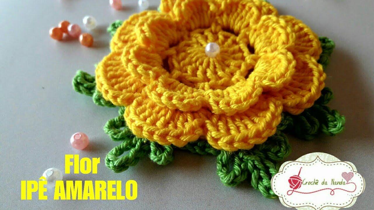 Flor De Crochê Ipê Amarelo Youtube