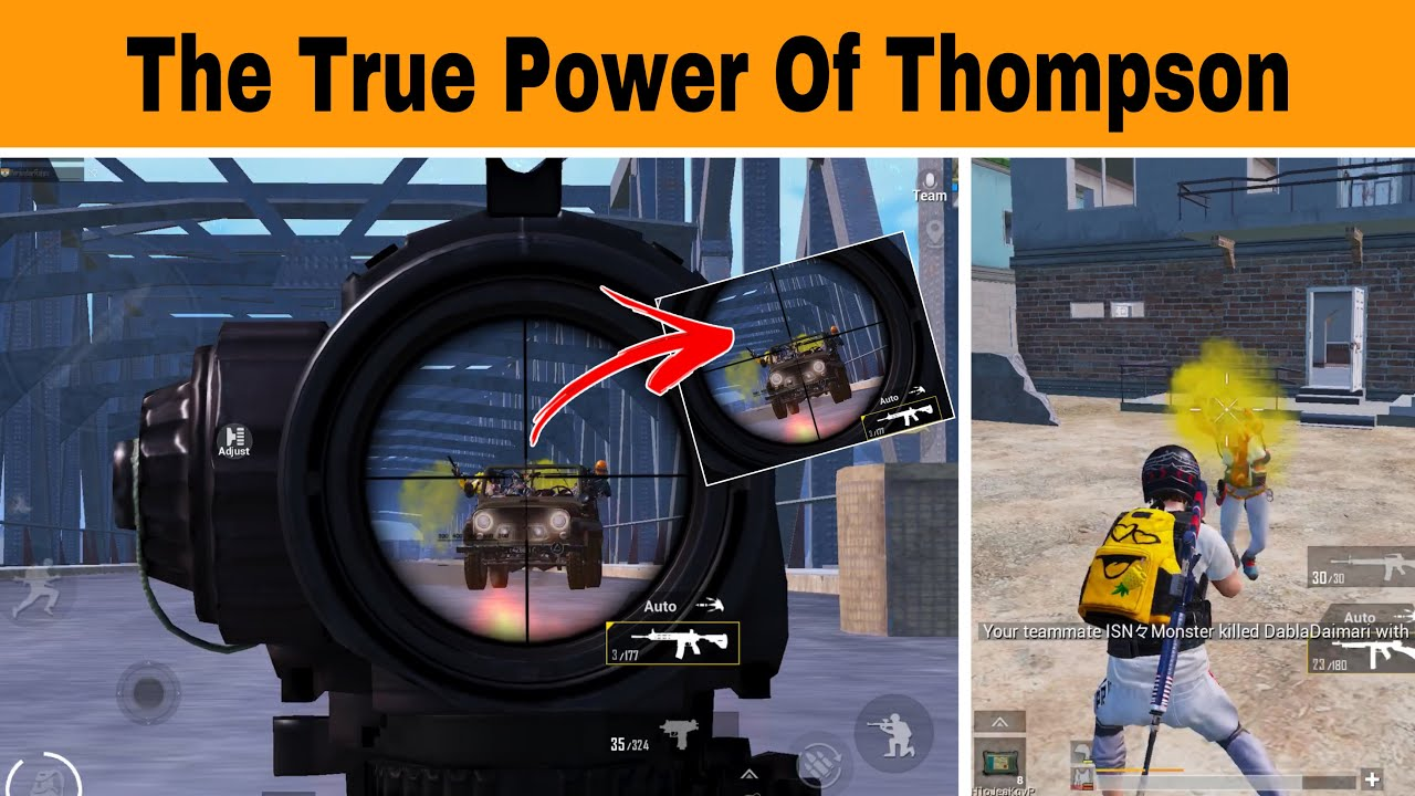 😳I Used Thompson And This Happened | Pubg Mobile Gameplay