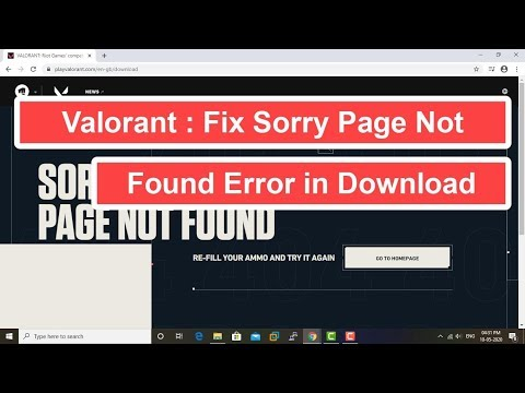 Valorant : Fix Sorry Page Not Found Error In Download