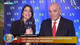 José Luis Espert con Eleonora Cole después del segundo debate presidencial 2019