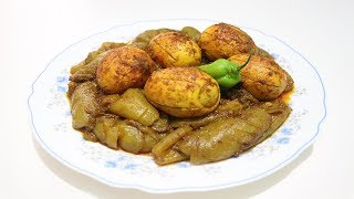 Village Style Cooking | Pointed Gourd and Egg Fry Recipe | Bengali Recipe Dim Potol Vuna So Yummy