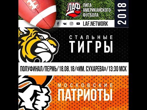 Видео: LAF Network | Полуфинал | Тигры - Патриоты 18.08.2018 Пермь