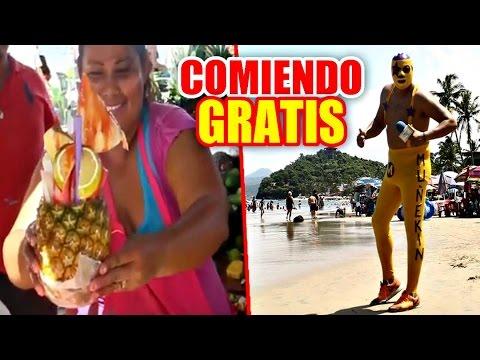 COMIENDO GRATIS EN LA PLAYA   MUÑEKIN   VIDEOS GRACIOSOS   LA SHALUPA SHOW