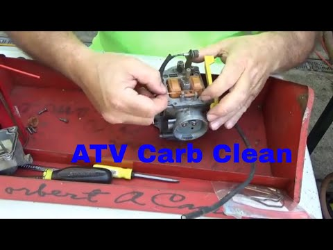 Honda Trx250X detailed carburetor rebuild, ATV engine start failure,