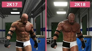 WWE 2K17 vs. 2K18 – Goldberg Entrance Graphics Comparison
