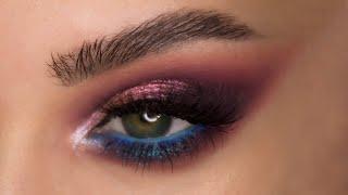 Яркий макияж глаз палеткой Huda Beauty Mercury Retrograde