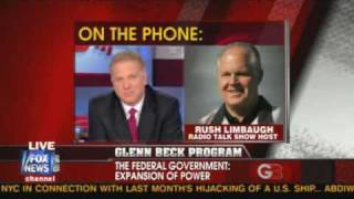 Rush Limbaugh interview with Glenn Beck May 21 2009 Part 1