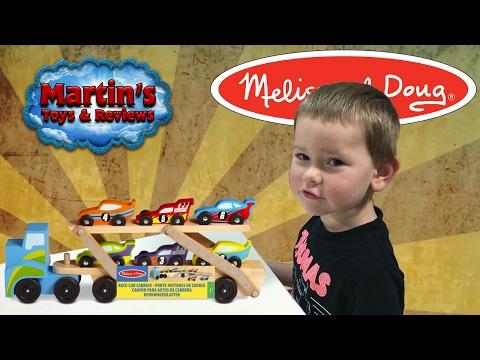 Mega Race Car Carrier - Melissa & Doug!!!