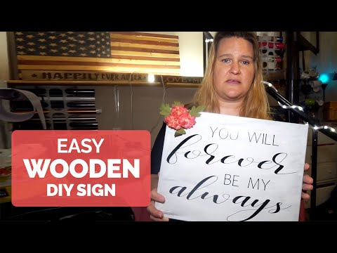 Easy Wooden DIY Sign with VINYL and Your CRICUT!