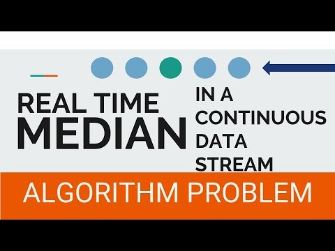 Google Interview Question | Running median in a stream of numbers