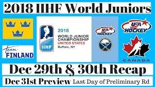 2018 World Juniors Recap Dec 29th / 30th - Team Canada vs Team USA Outdoor Game