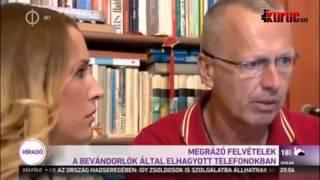 Terrorexperte - weggeworfene Handys der Flüchtlingen (Ungarisches TV)