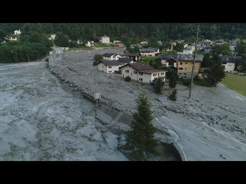 Landslide rips through Swiss village