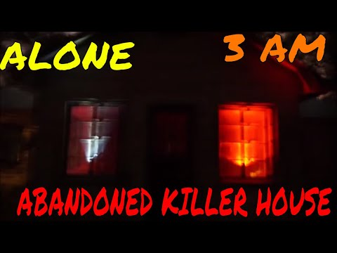 (30 Min ALONE Challenge) ABANDONED KILLER HOUSE IN THE WOODS.  COME ALONG IF YOU DARE