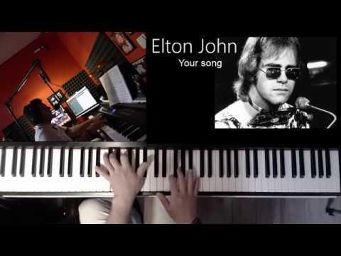 Elton John --  Your Song   -- Piano Cover (+free Midi file)