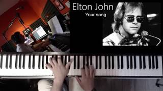 Elton John --  Your Song   -- Piano Cover (+free Midi file)