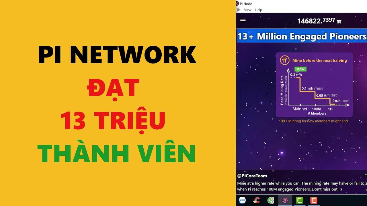 pi network-đạt 13 triệu thành viên trong thời gian ngắn- achi kiếm tiền online