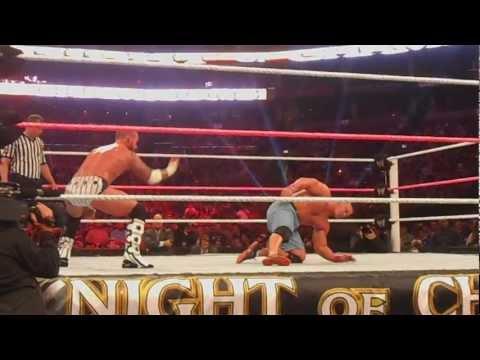 WWE Night of Champions 2012 - CM Punk Rock Bottom and Cena