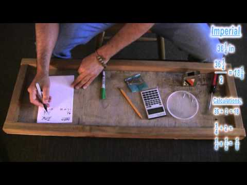 ASMR Math: Measurements, Imperial and Metric: How to Attach Sawtooth Hooks to a Frame