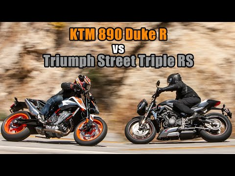2020 KTM Duke 890R Vs Triumph Street Triple RS
