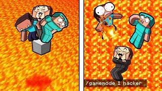 Minecraft But Lava Rises Every 5 Seconds! (LAVA FLOOD SURVIVAL)