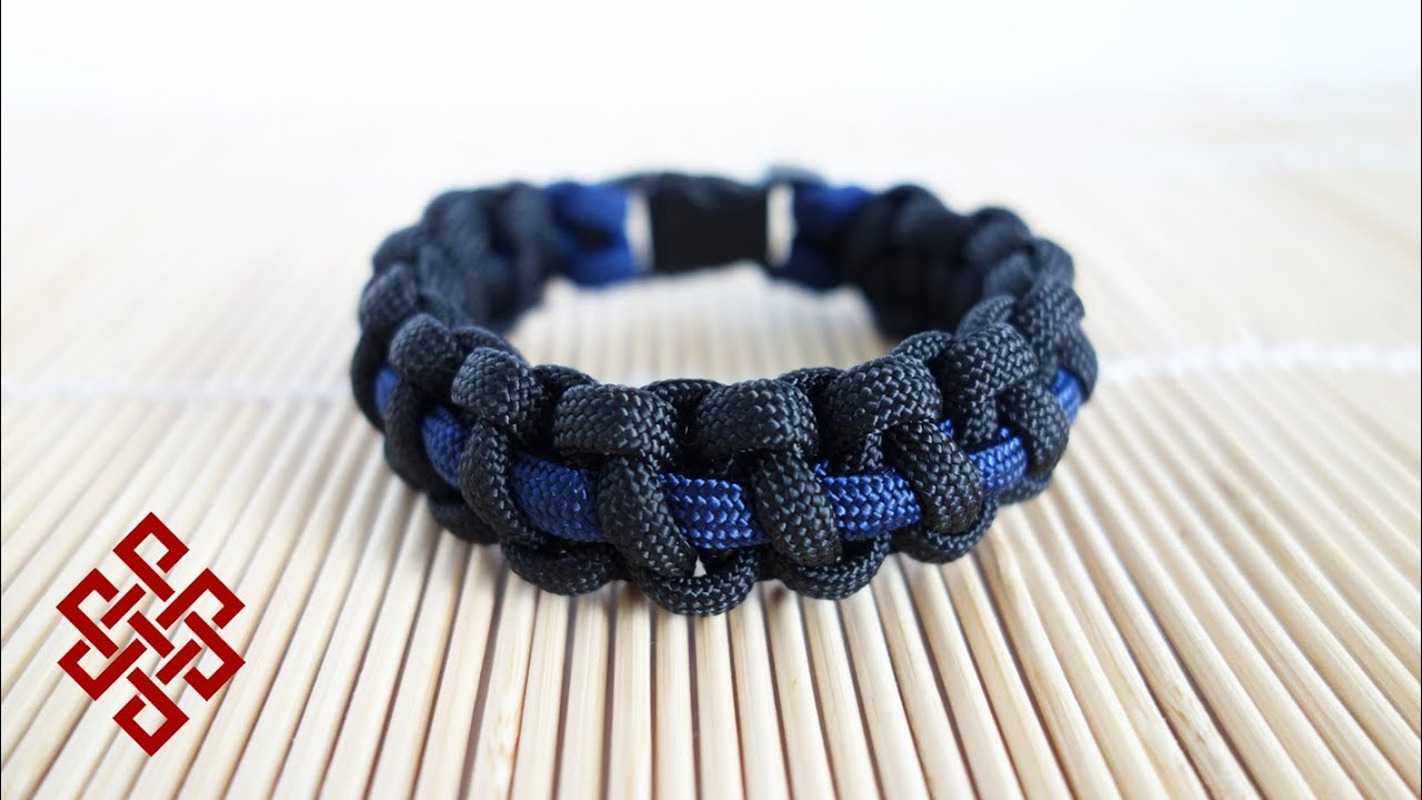 emergency thinblueline inch deluxe product line blue bracelet paracord thin