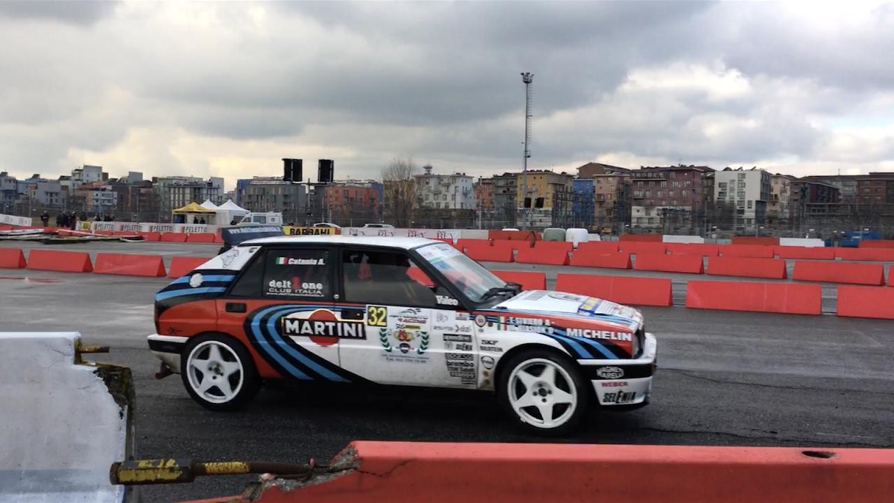 LANCIA DELTA INTEGRALE - AutoMoto Racing Torino 2017 - YouTube