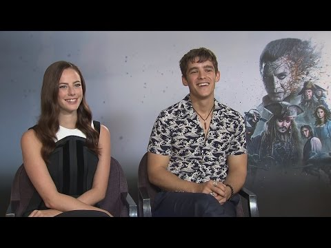 Kaya Scodelario and Brenton Thwaites talk Pirates of the Caribbean and getting starstruck