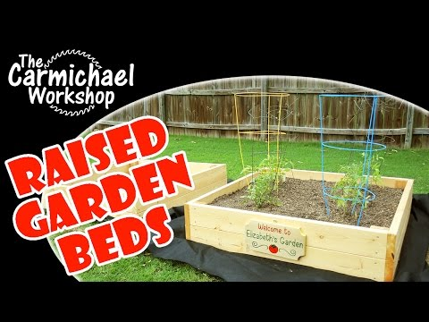 Easy Raised Garden Beds // Outdoor Woodworking Project