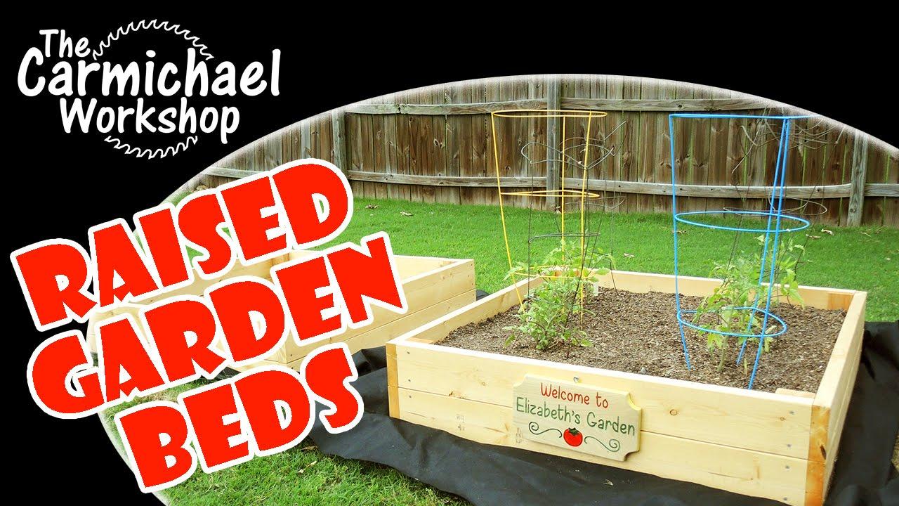 Easy Raised Garden Beds Outdoor Woodworking Project