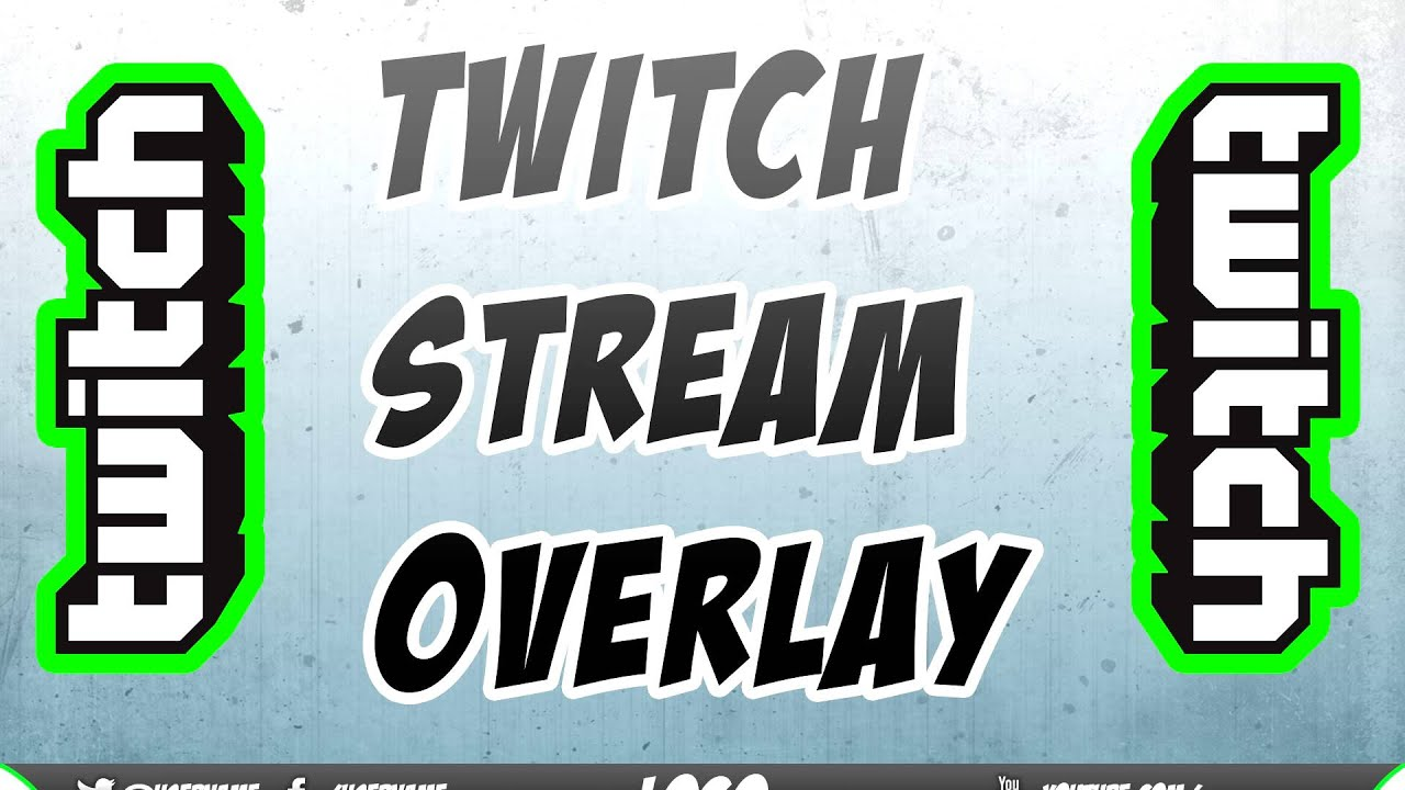Twitch TV Stream Overlay Template // #1 // [FREE DOWNLOAD