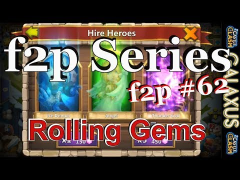 |:|f2p Episode #62|:| Rolling 2500 Spend To Win For New Heroes Castle Clash