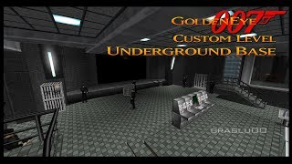 GoldenEye 007 N64 - Underground Base - 00 Agent (Custom level)