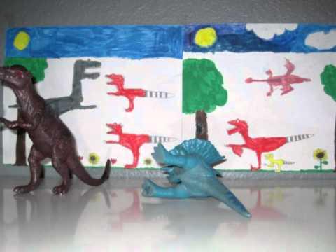 Hadrosaurus vs Paranadon (by Mason Kim)
