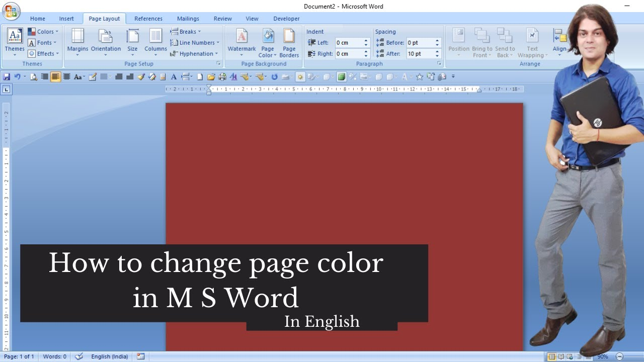 how to change page color in word coloring pages