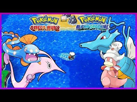 Pokemon OmegaRuby & AlphaSapphire - How To Get Huntail,Gorebyss,Kingdra & Slowking