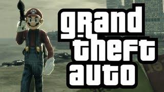 GTA 4: Mario in GTA! - (Mario Bros. Mod Funny Moments)