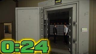 PAYDAY  2 - Go Bank SpeedRun (0:24)
