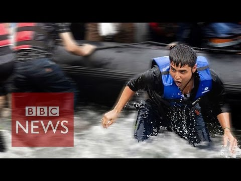 Migrant Crisis: On the ground at refugee hotspots - BBC News