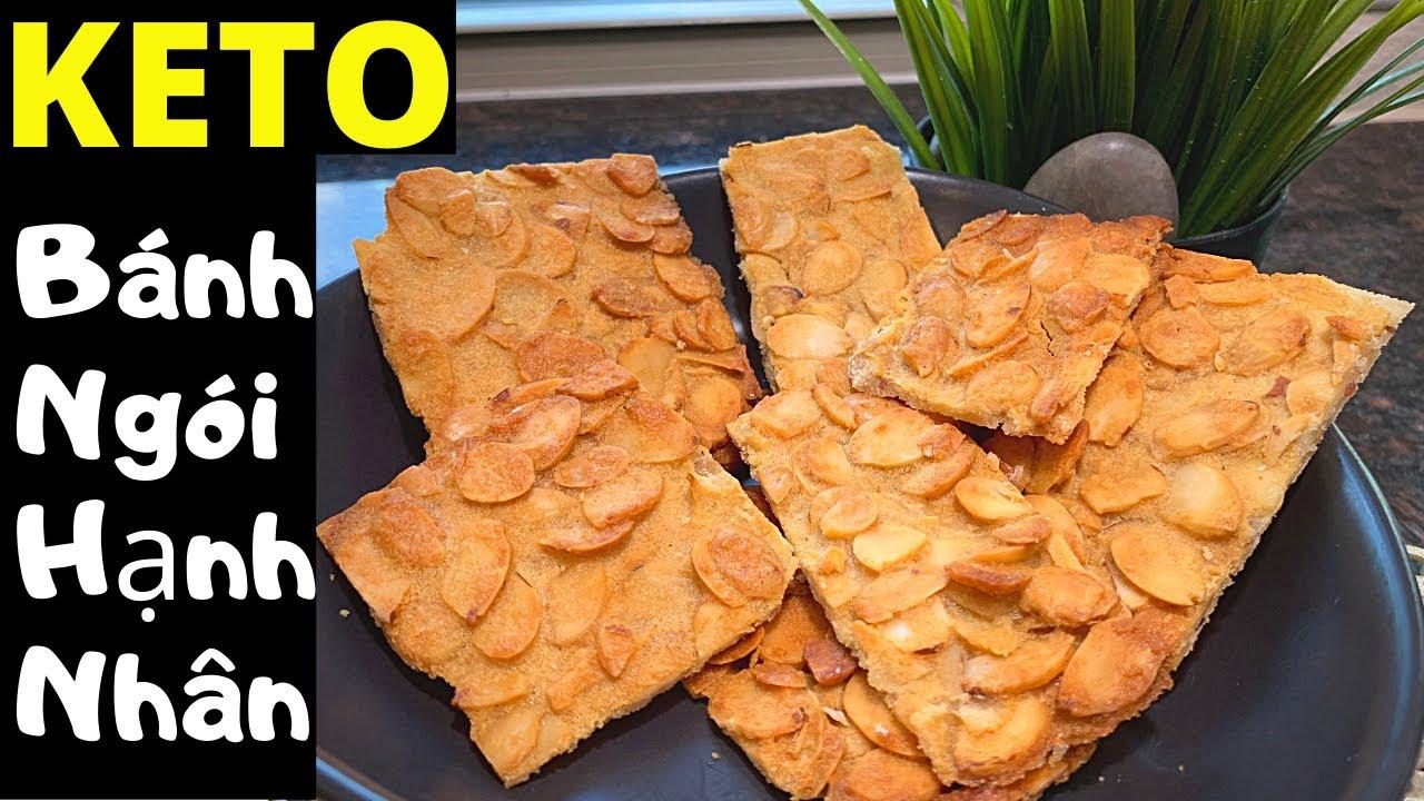 Giòn rụm, thơm bùi KETO Bánh Ngói Hạnh Nhân, ăn là ghiền luôn. KETO/ Lowcarb Almond Tuiles/ Cookies