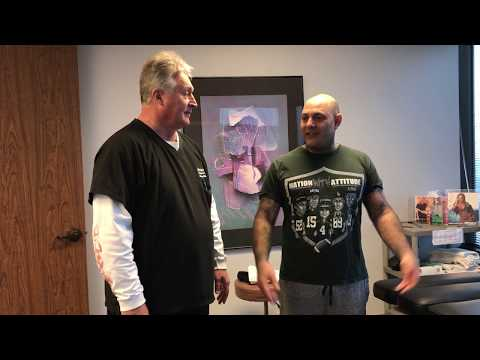 Houston Chiropractor Dr Gregory Johnson Adjust Severe California Man During Winter Storm In Houston