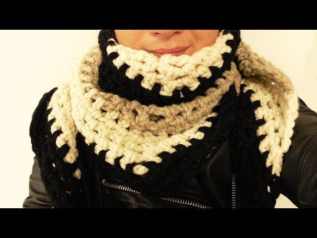 Winter Schal Häkeln | Kuschliger Warmer Schal einfach Häkeln | Einfache Anleitung für Anfänger