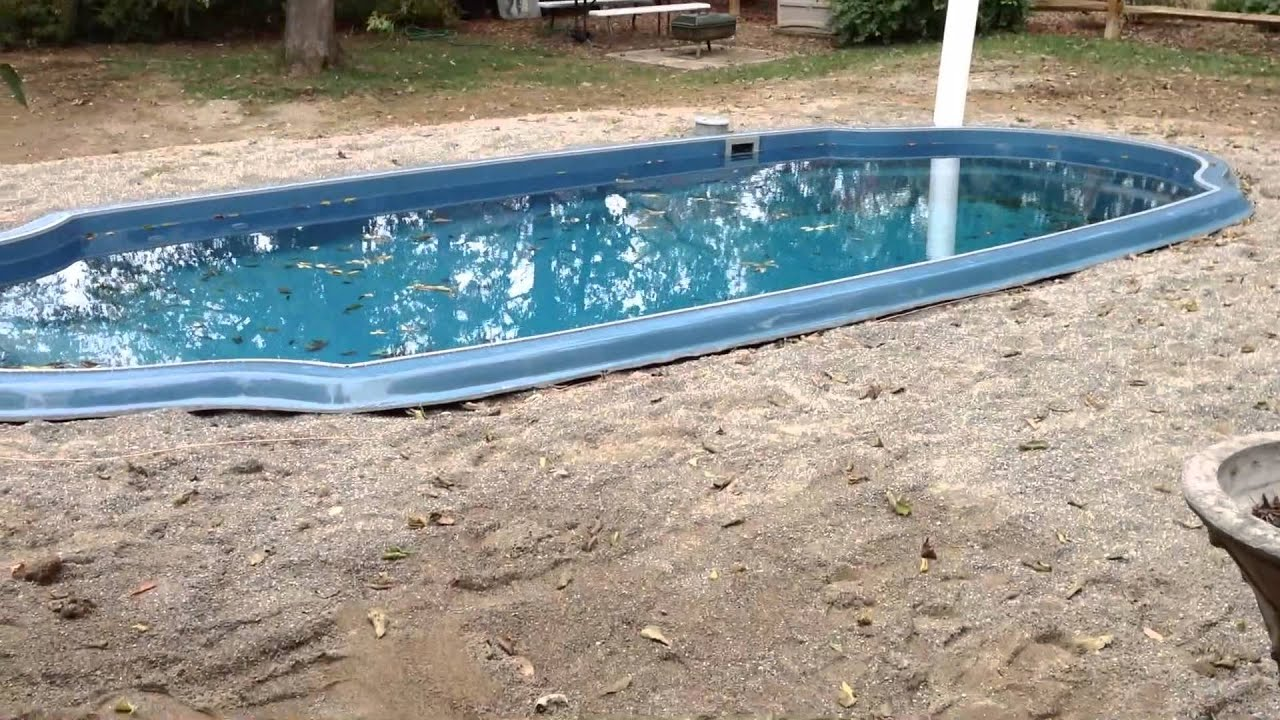 Fiberglass pool install youtube Fiberglass swimming pool installation