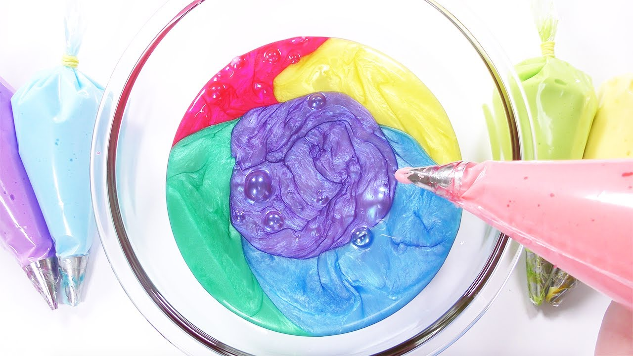 【ASMR】嵐カラーのパールパウダースライム × 丸ごと1本のシェービングフォーム【音フェチ】FLUFFY SLIME【SlimeTube】
